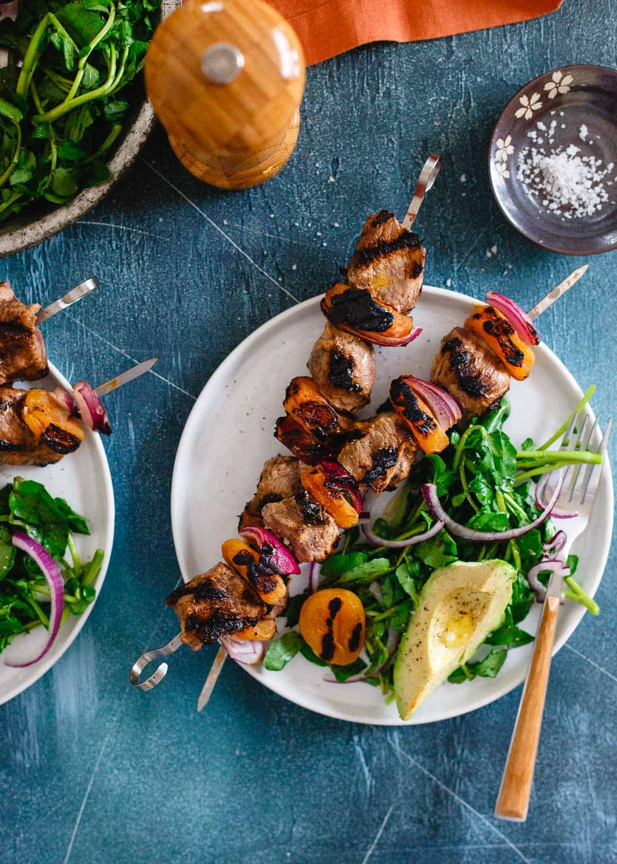 These smoky grilled apricot lamb kebabs are a great way to enjoy American spring lamb. Special enough to serve for Easter, easy enough to grill up on a weeknight!