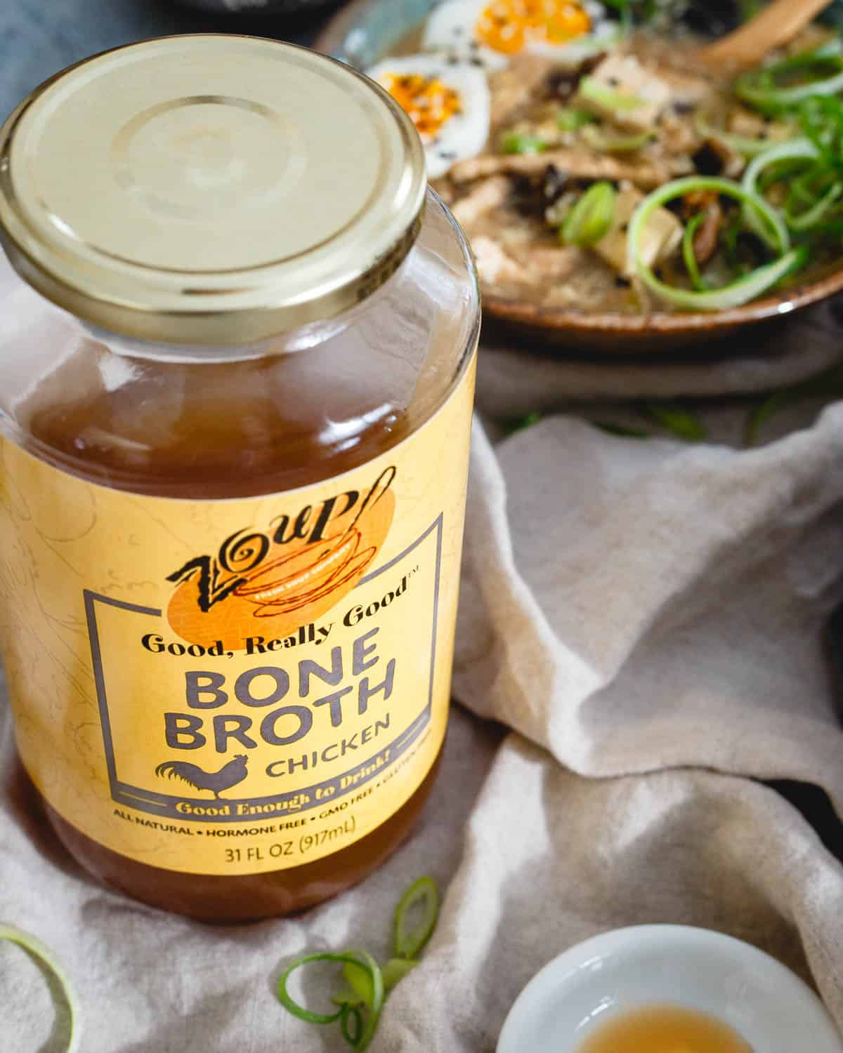 Good soup starts with good broth. Zoup! chicken bone broth brings a deep, delicious flavor base to this hot and sour egg drop soup.