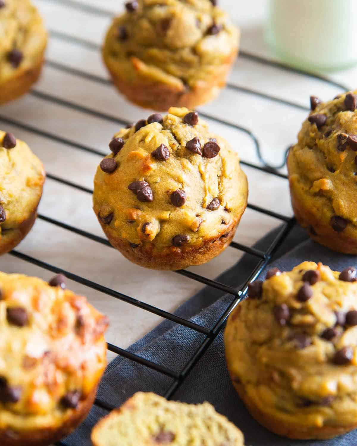 Avocado muffins sweetened with banana and honey are a healthy, wholesome snack you'll love.