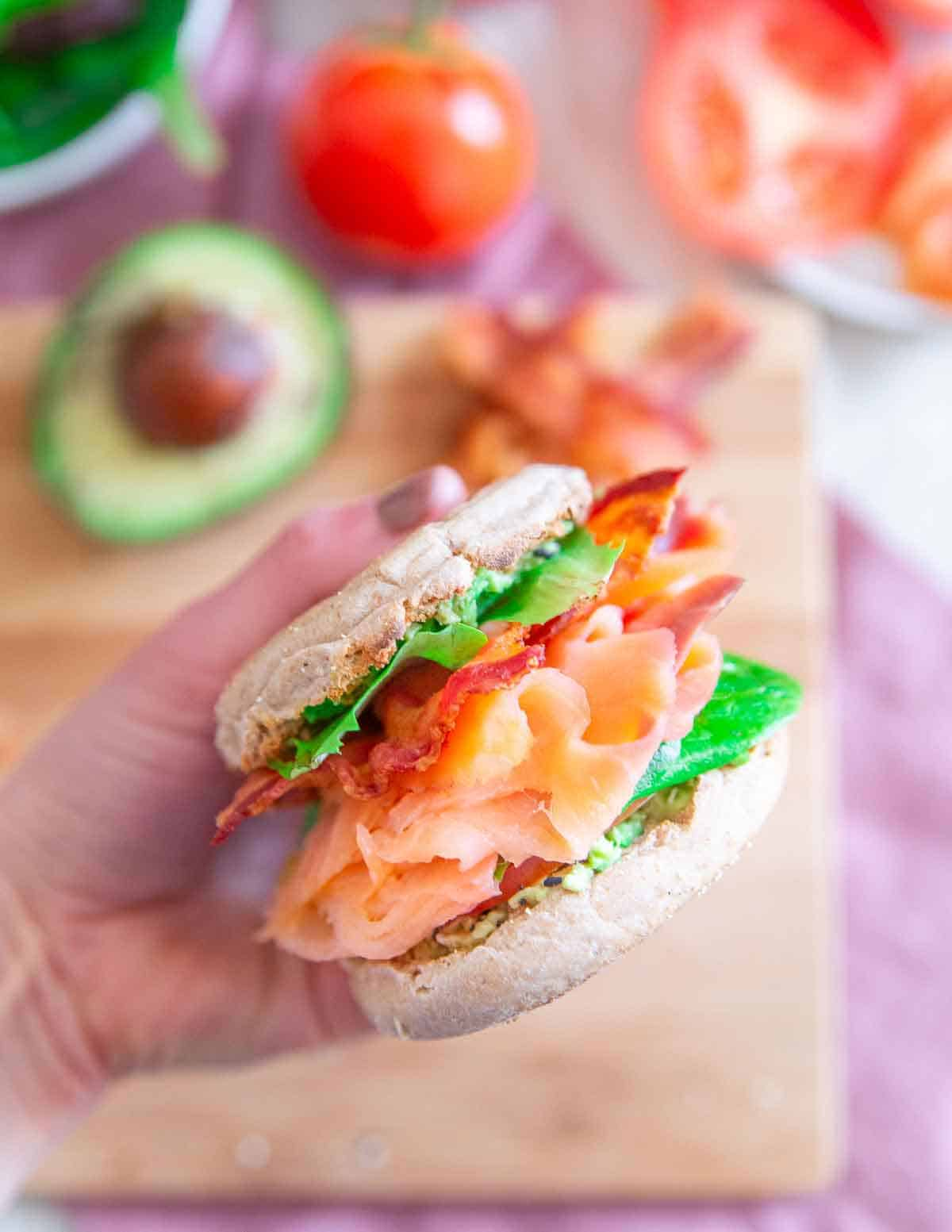 This smoked salmon breakfast BLT is the perfect way to celebrate the weekend.