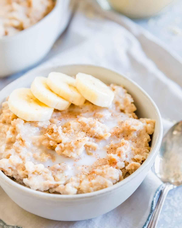 Creamy breakfast millet made in the slow cooker is a hearty, filling, gluten-free breakfast.