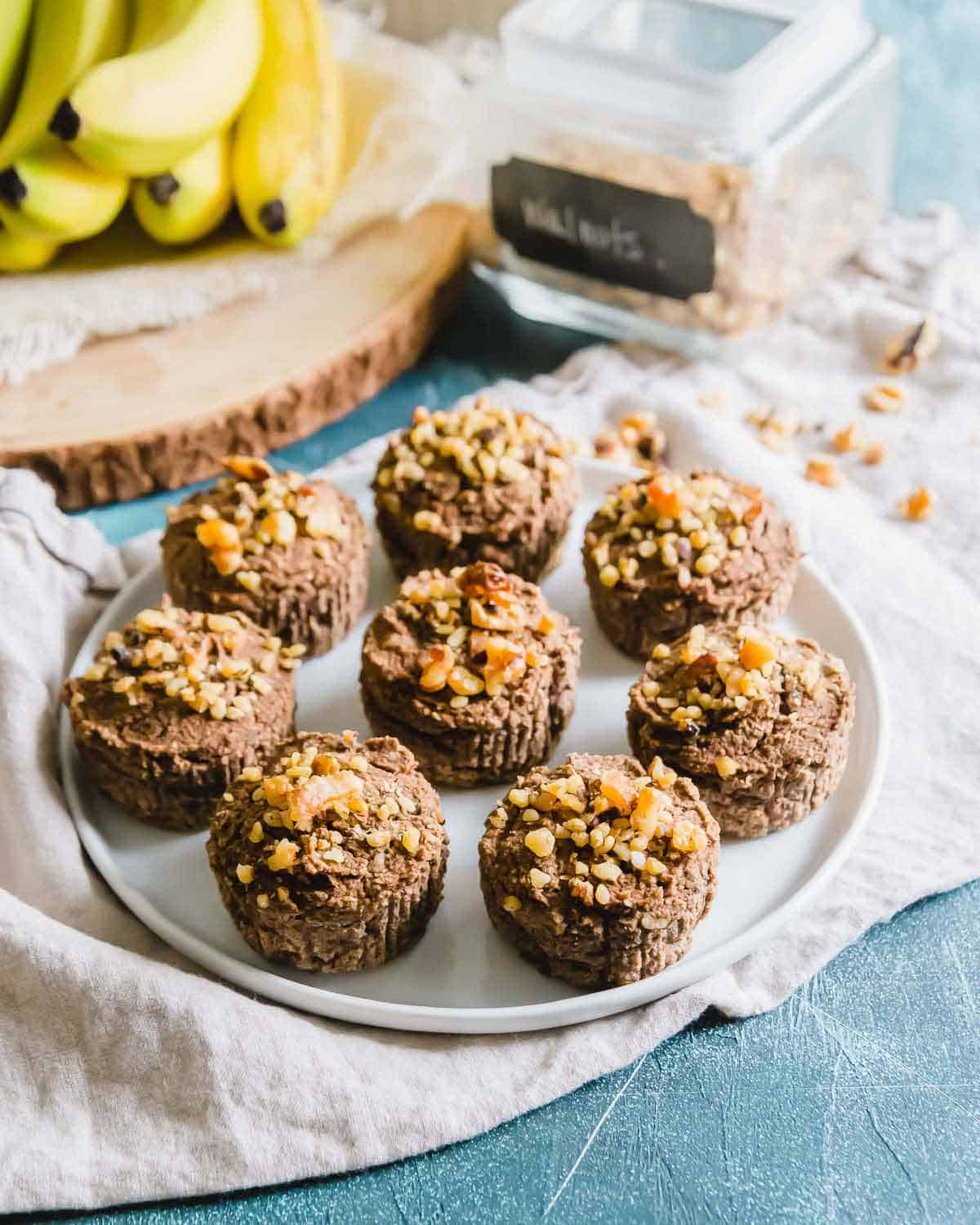 These banana nut almond pulp muffins are a great way to use leftover almond pulp from making homemade almond milk.