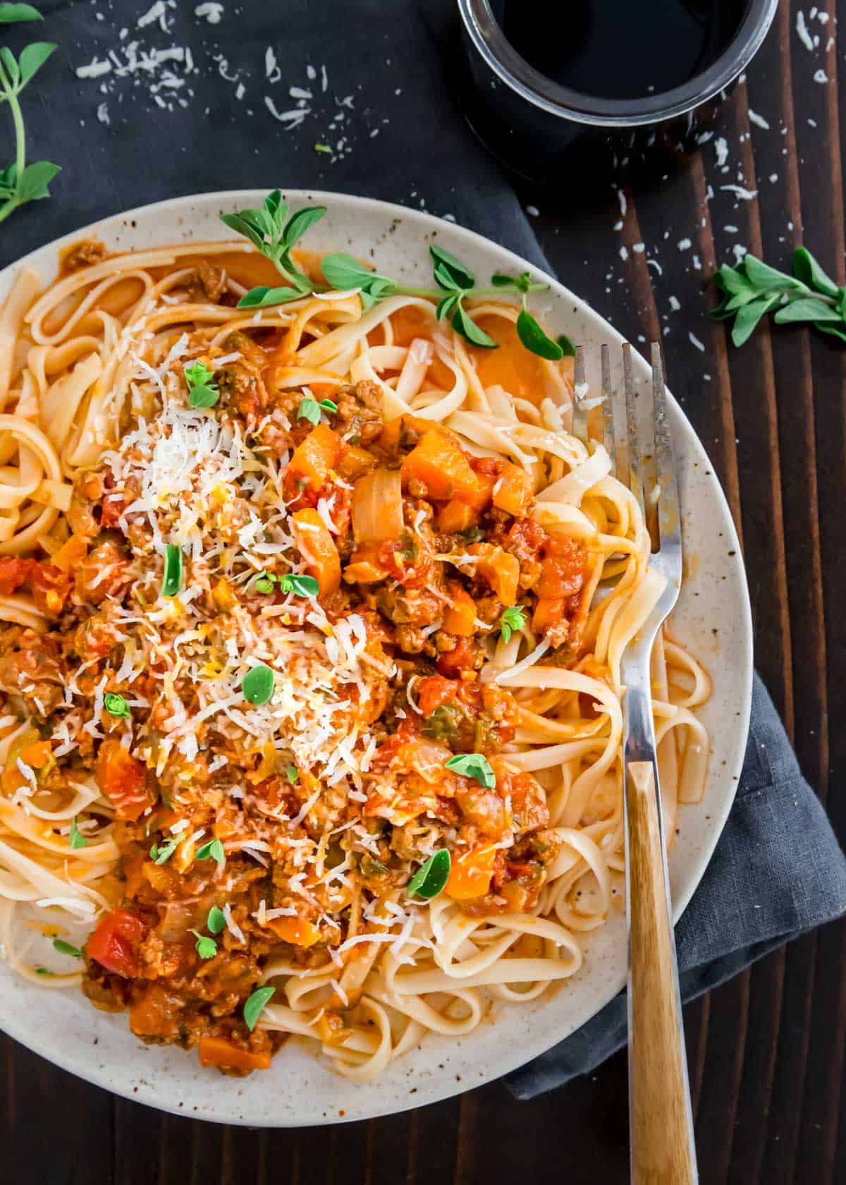 Making bolognese in the Instant Pot (or pressure cooker) is a much quicker and easier spin on the classic Italian meat sauce. You'll still get all the rich and hearty depth of flavor in a fraction of the time from the traditional stove top method. Serve over your favorite pasta with a good dose of parmesan cheese.