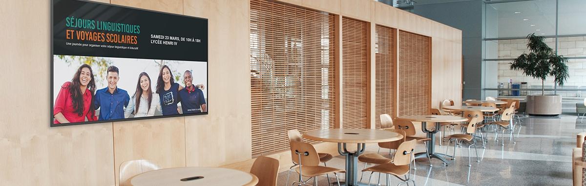 Moderniser et dynamiser sa communication à l'école avec l'écran d'affichage