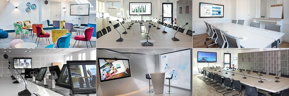 logiciels collaboratifs et visioconférence écran interactif