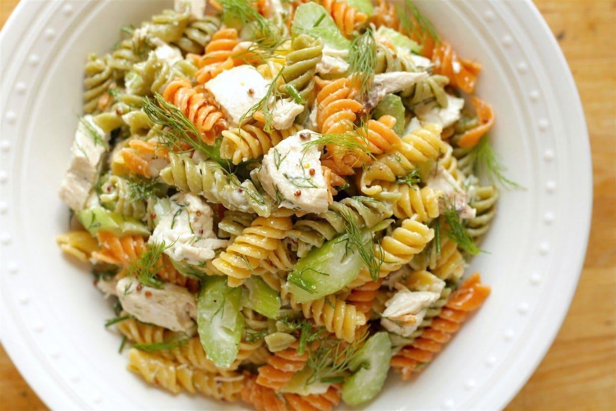 make ahead camping meal pasta salad