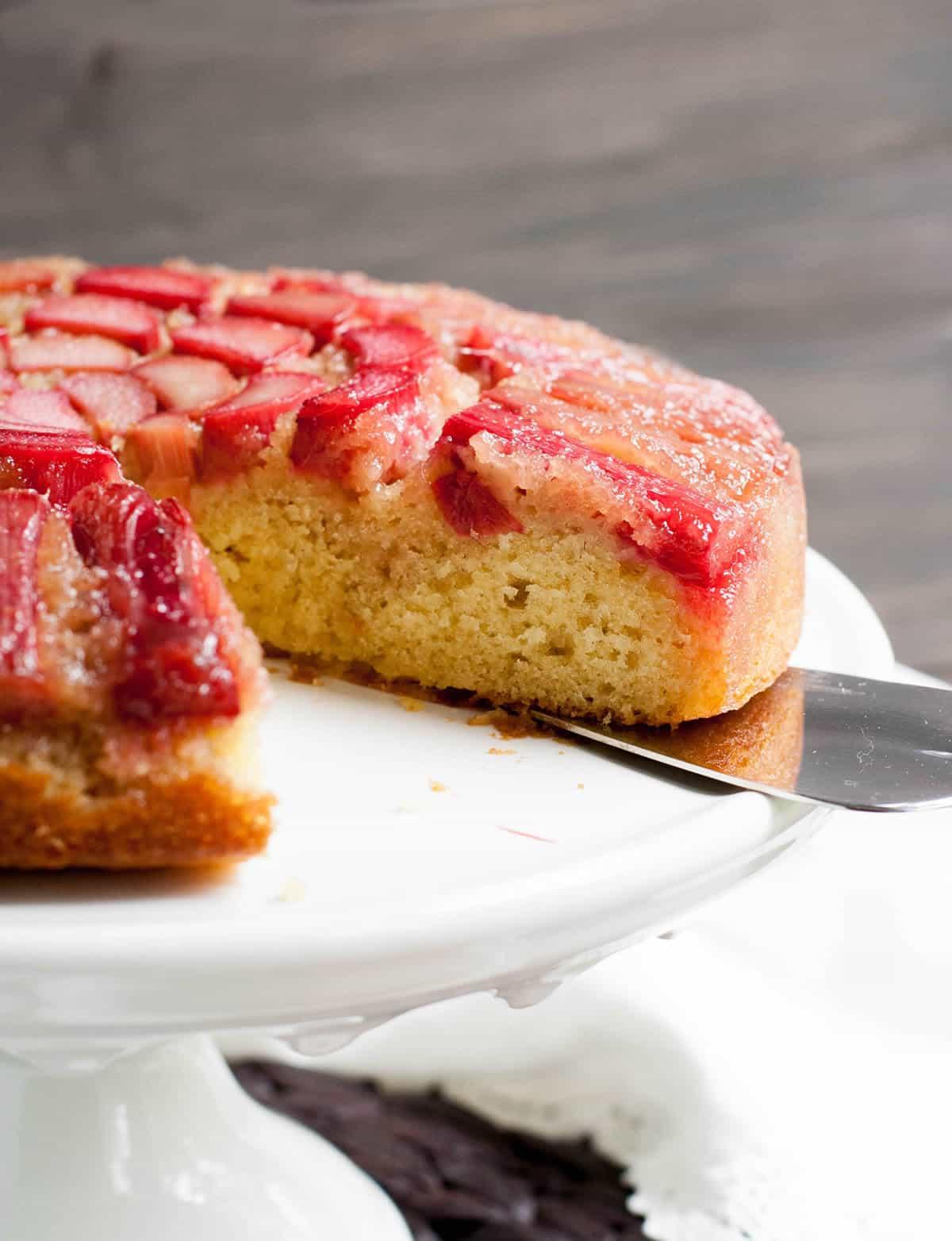 Rhubarb Upside Down Cake-6