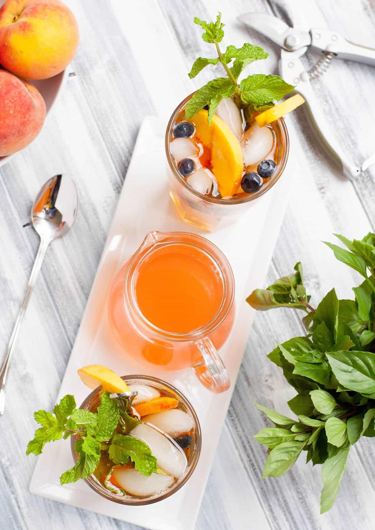 Fresh Peach Iced Tea-8