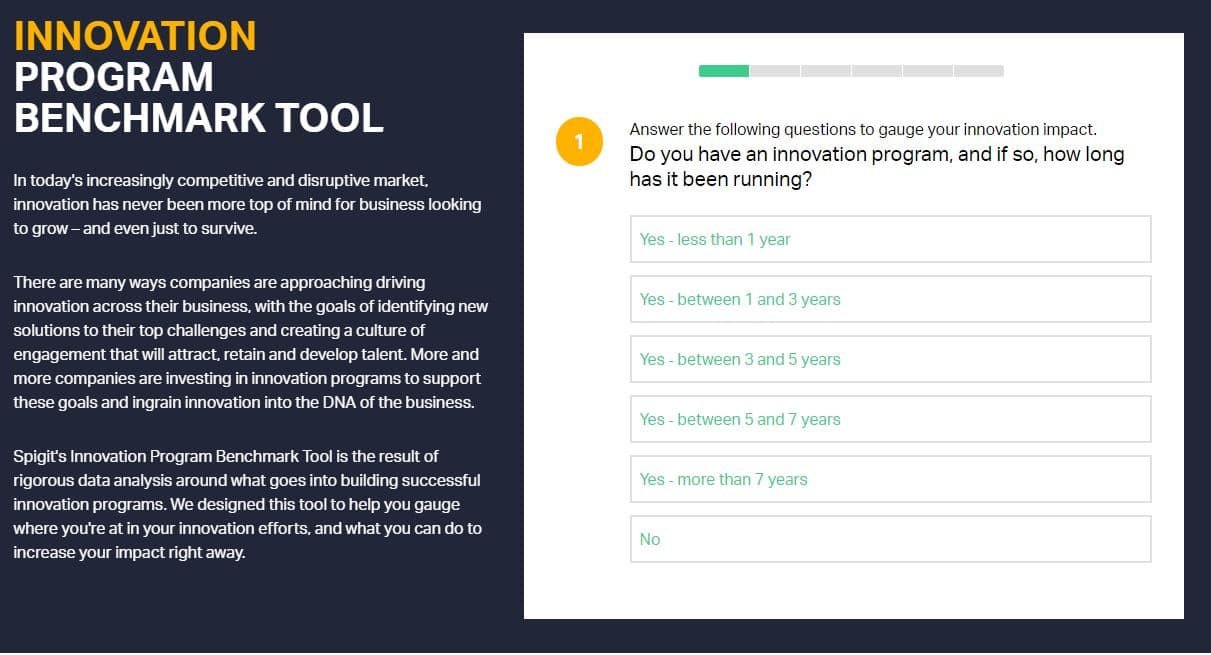 Innovation Program Benchmark Tool