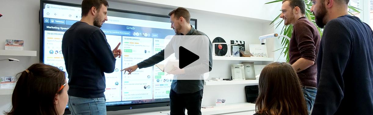écran interactif speechi travail colllaboratif numérisation entreprise