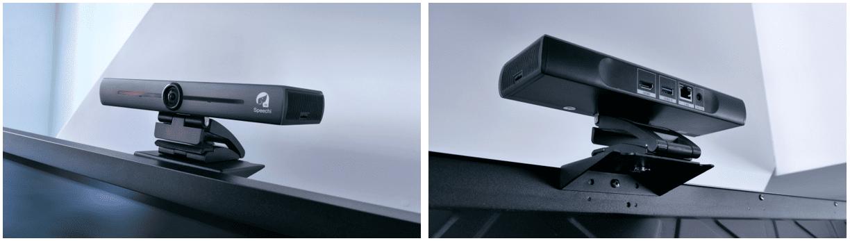 caméra de visioconférence eptz fixée sur un écran interactif