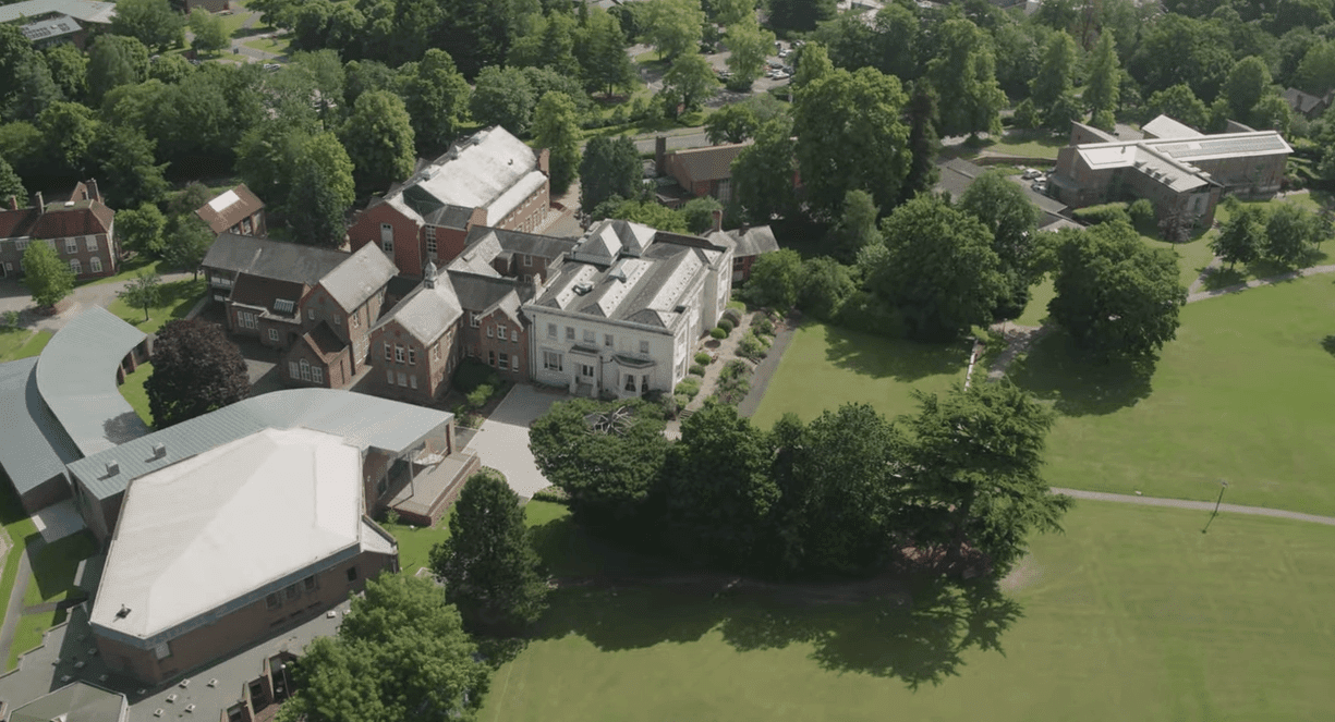 Drone view of the school