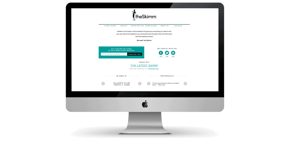 theSkimm Home Page by Greta Rose Agency