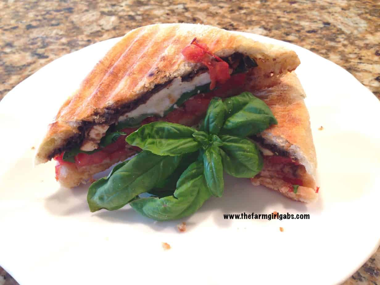 Cooking With Fresh Herbs:  Caprese Panini with Fresh Mozzarella, Basil & Tomato
