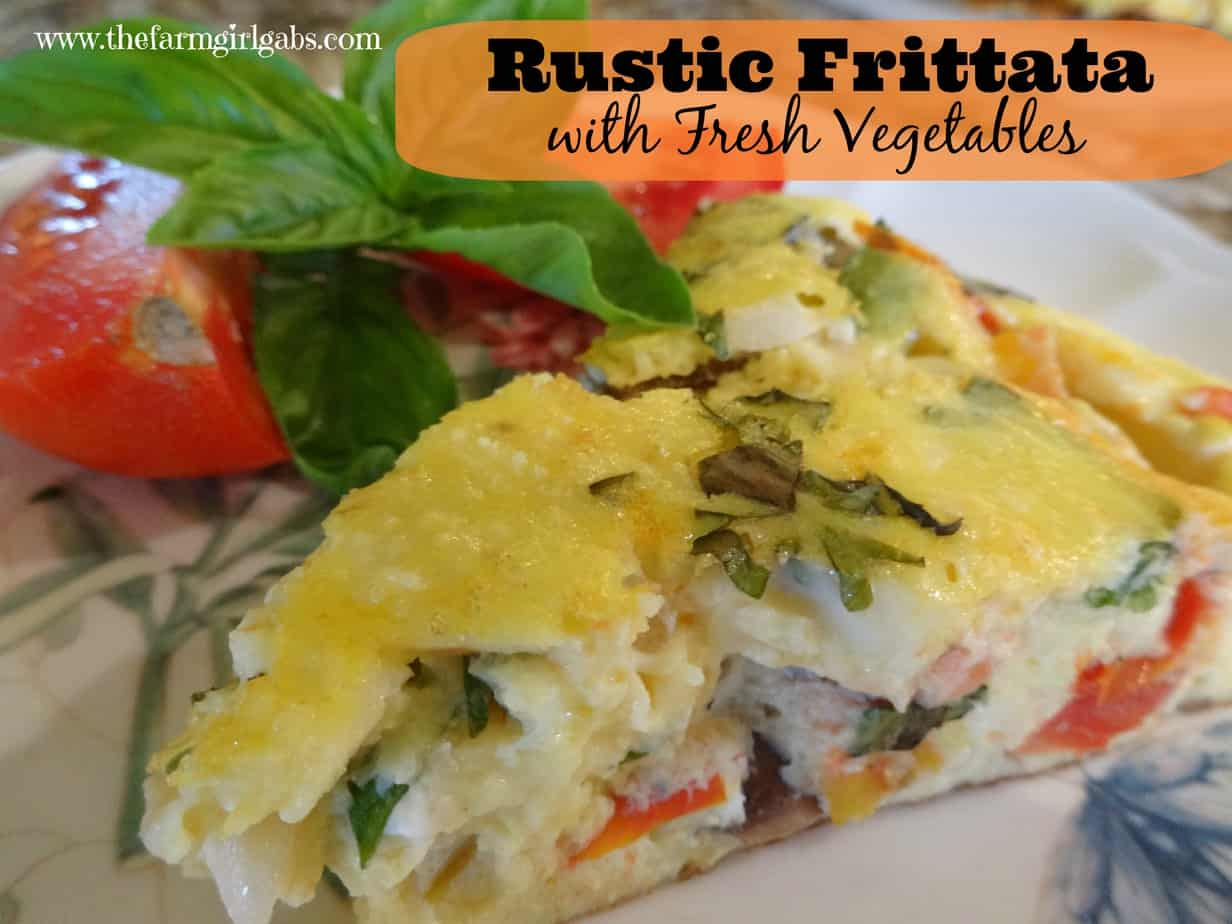 Rustic Frittata with Fresh Vegetables