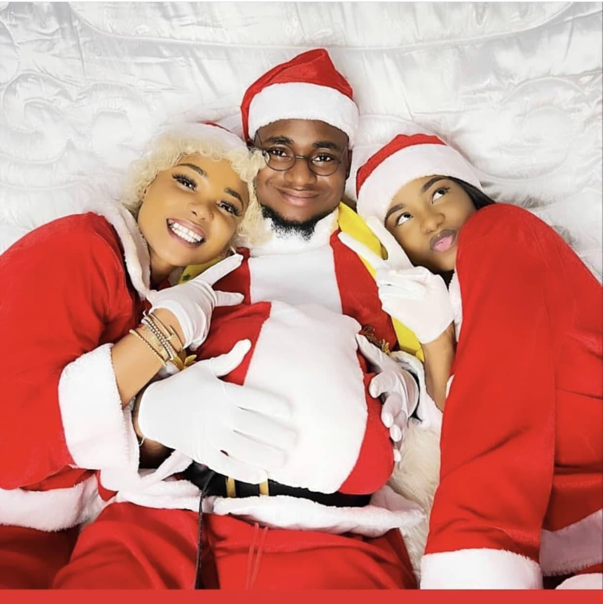 Iyabo Ojo And Kids Dress Up As Santa To Celebrate Christmas (VIDEOS)