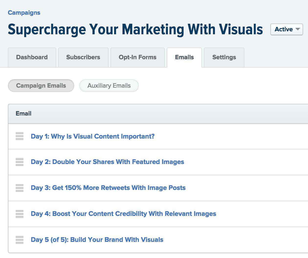 Visual content course