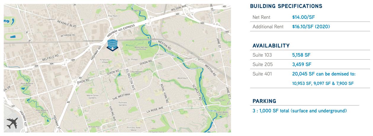 Area Map & Availability in 2150 Islington