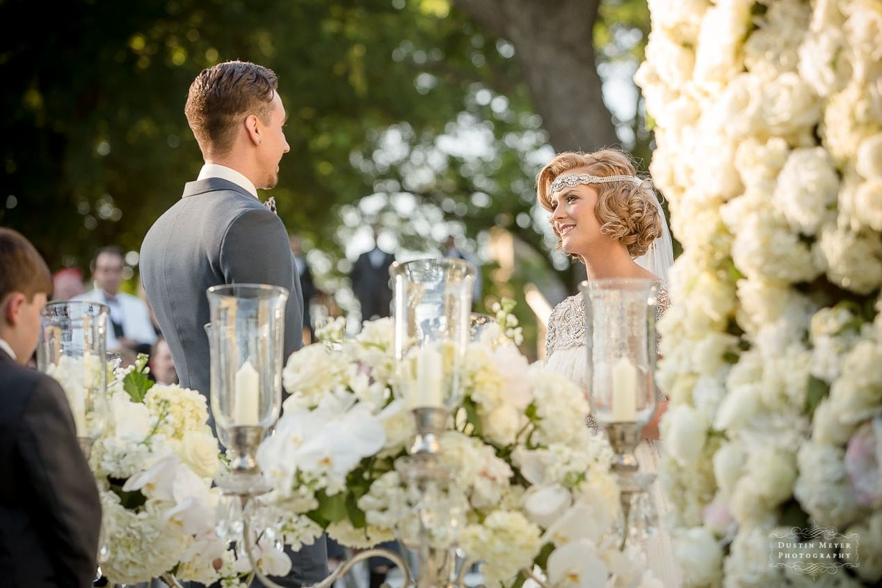 Gatsby Style Wedding Photojournalism Ceremony Photos