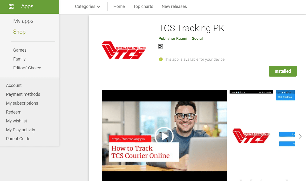 tcs tracking app download