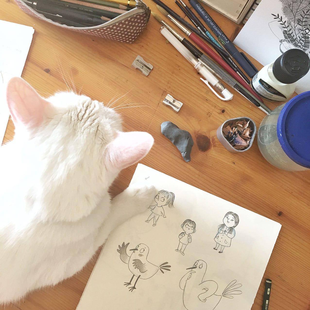 Estilo e ilustración, estilo del ilustrador, como conseguir estilo propio ilustrando, proceso de ilustración, boceto de ilustración para niños, Mar Villar,
