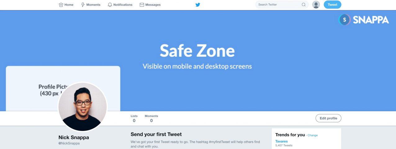 Twitter Header at full width