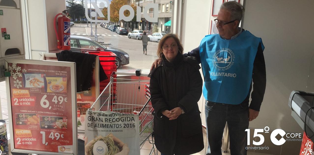 La Gran recogida reunió 2.639 kilos de alimentos en Peñaranda