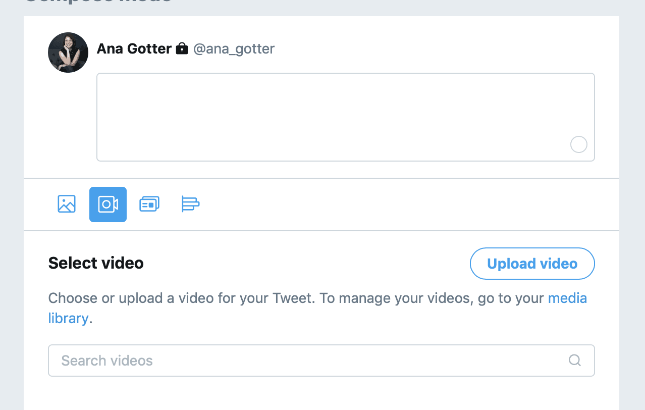 how to upload video to Twitter