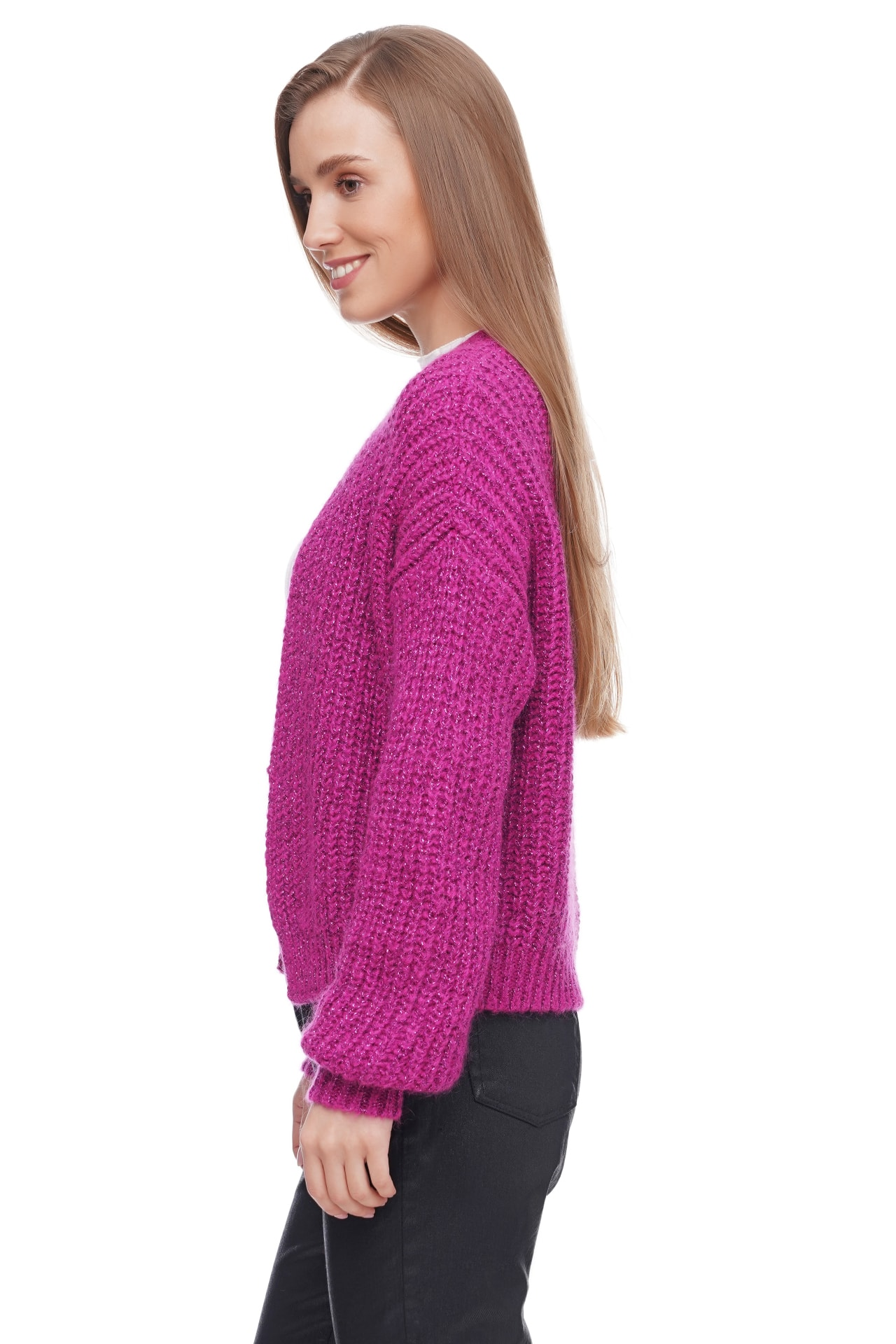 Kontatto Strickjacke mit Lurex