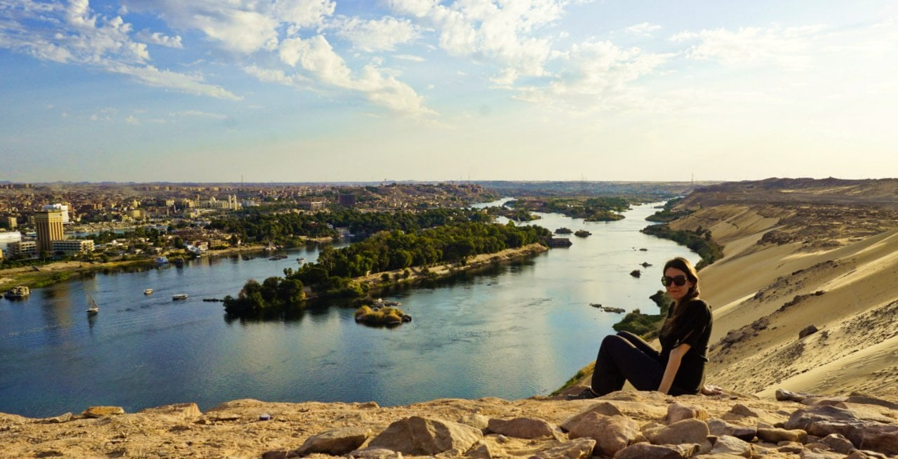 The Nile from Aswan's west bank - Experiencing the Globe
