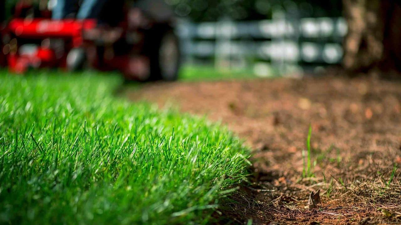 An Exmark mower cutting a lawn