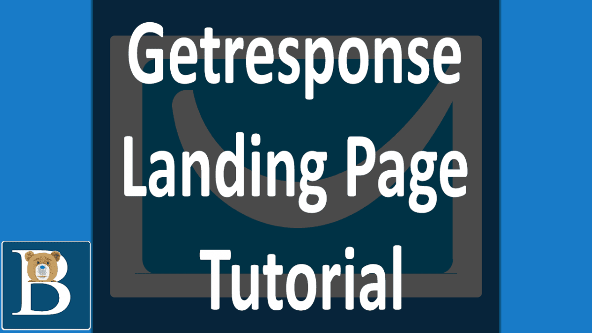 this Getresponse Landing page Video Tutorial