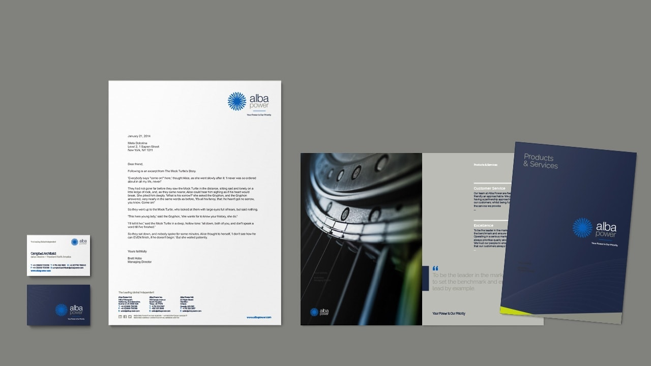 Alba Power Brochure Design
