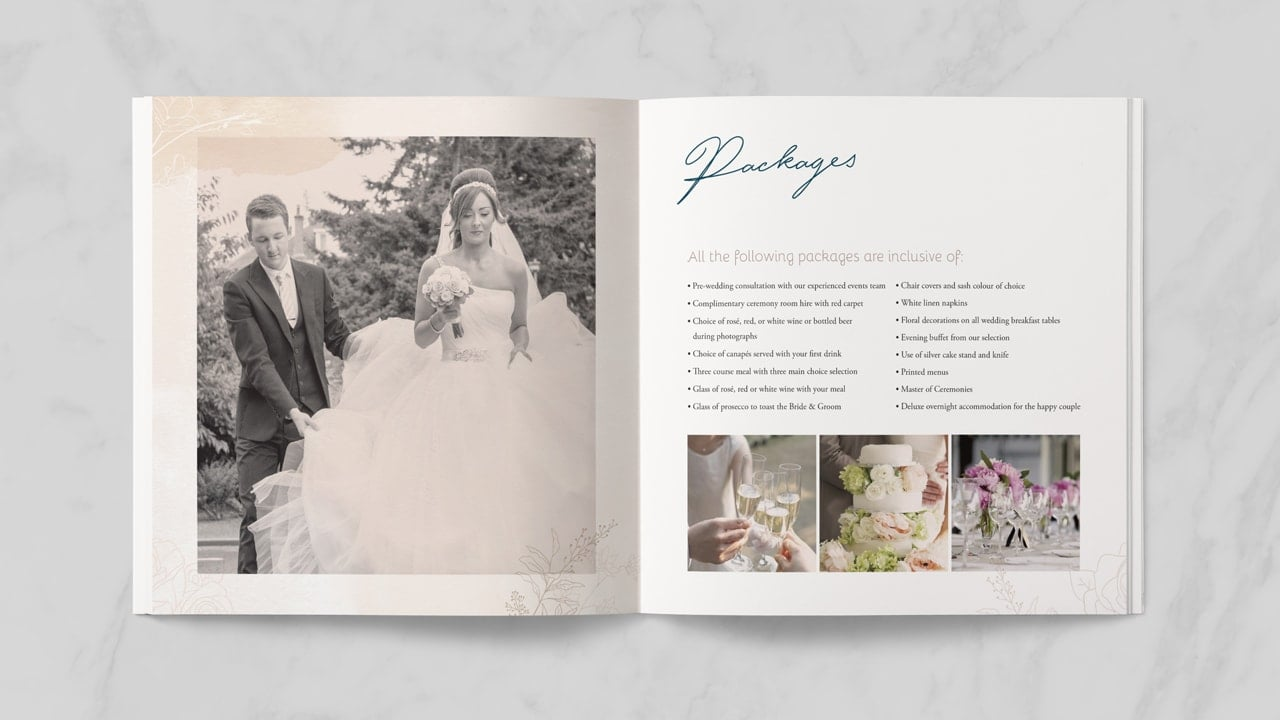 Invercarse Hotel Wedding Booklet