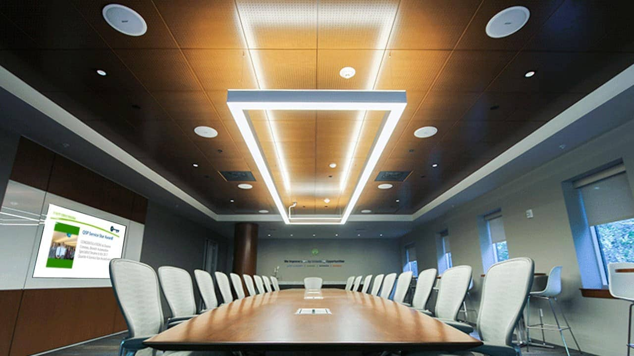 conference room with digital screen