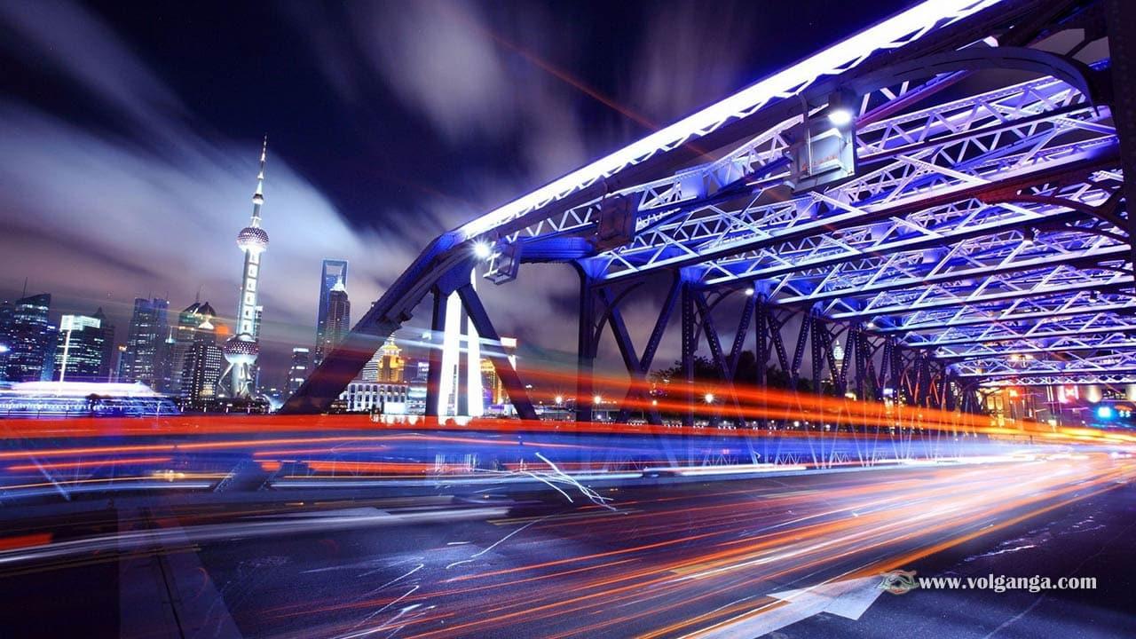 Beautiful lit up bridge