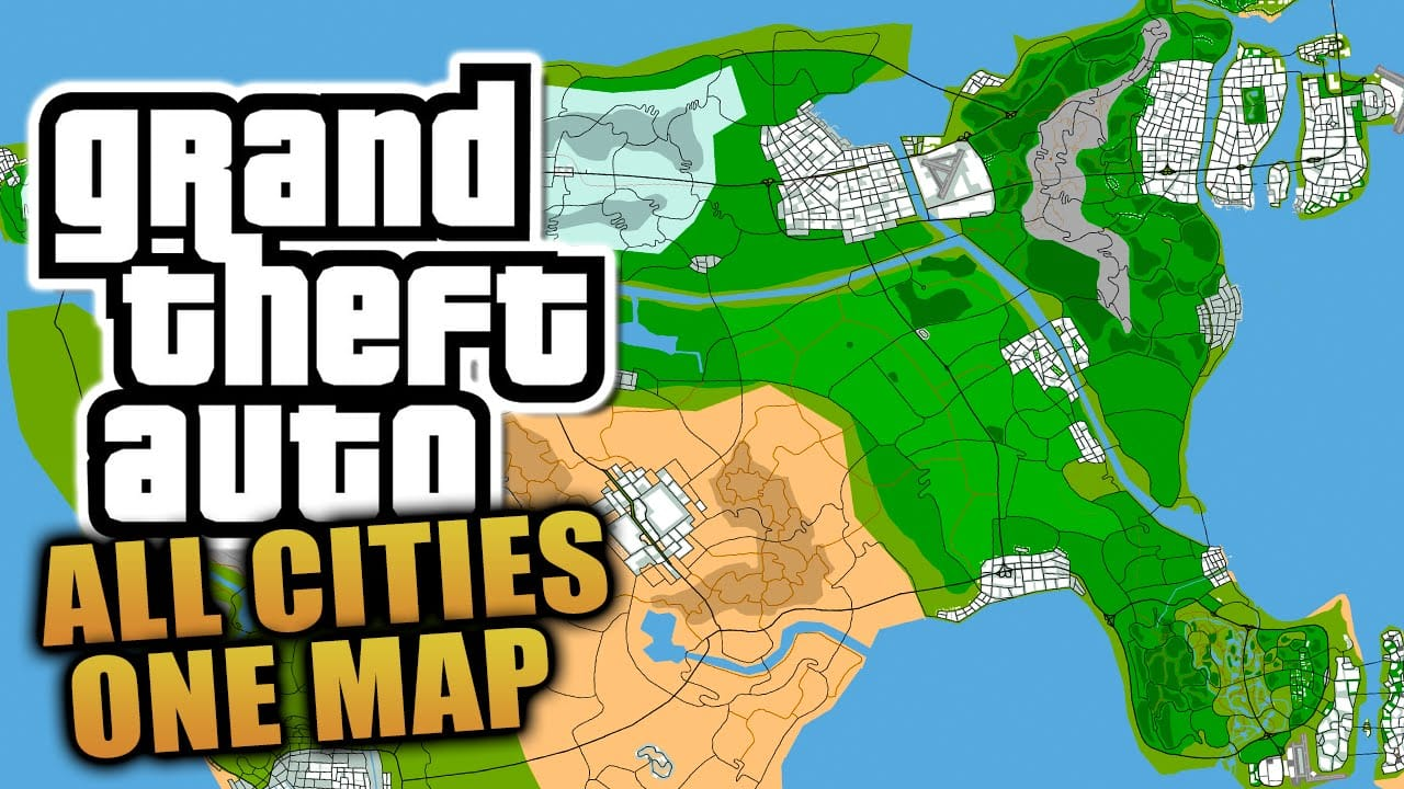 Grand theft auto 6 all cities
