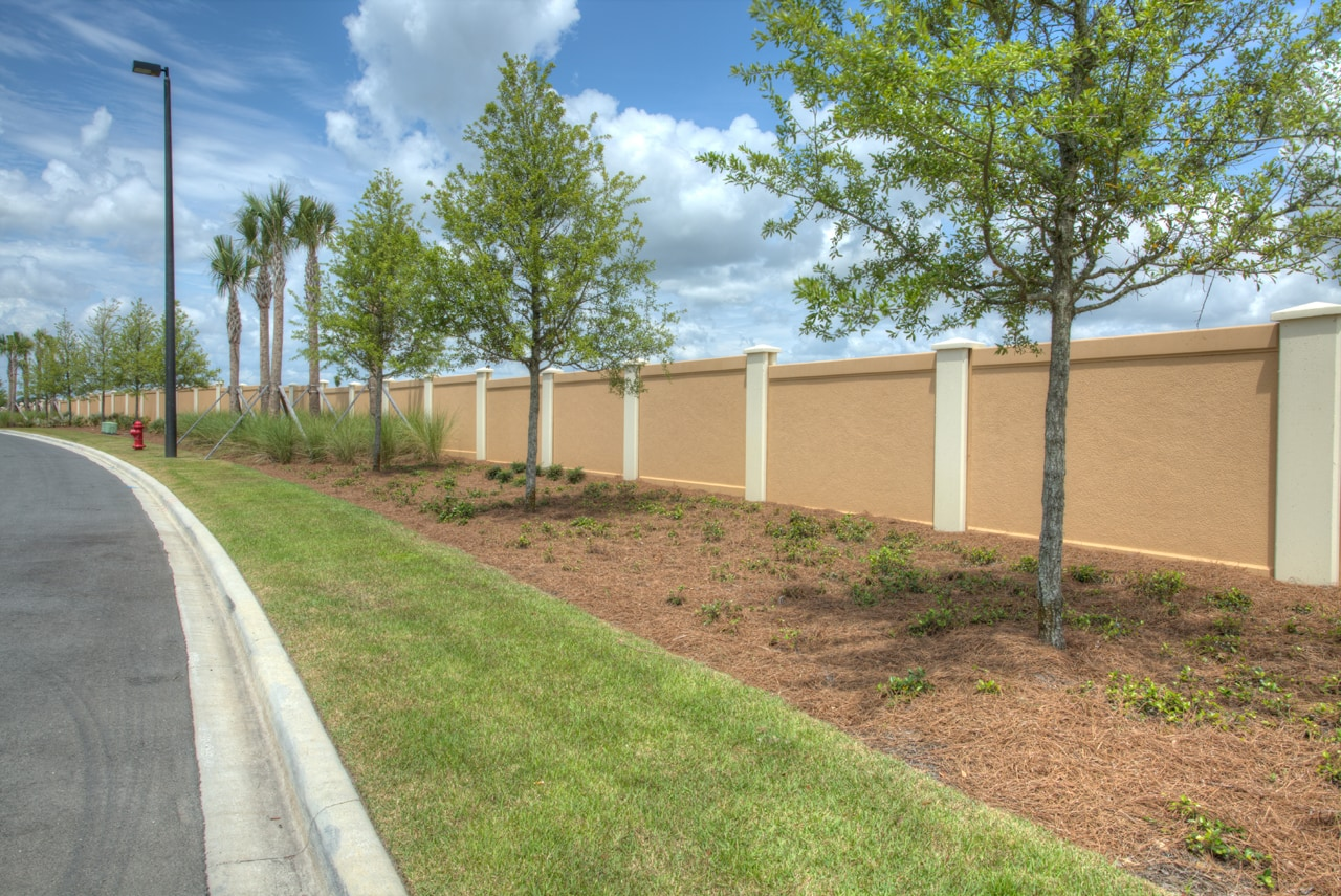 Precast concrete fencing by Permacast