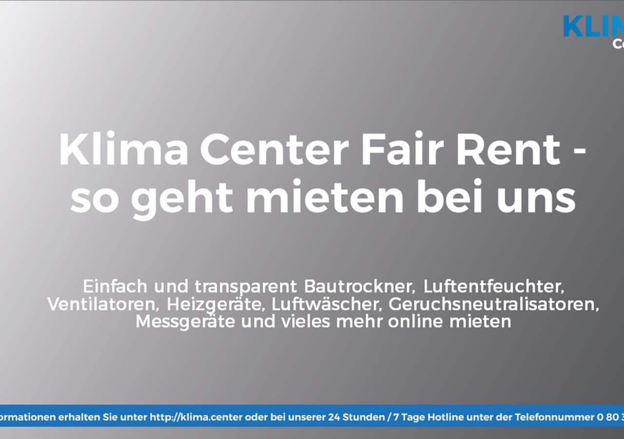 Klima Center Fair Rent - günstiges und einfaches mieten von Geräten