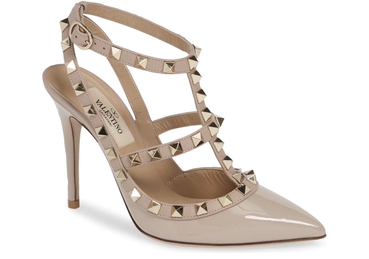 Valentino Garavani Rockstud T-Strap Pump - The Best Studded Shoes for Women