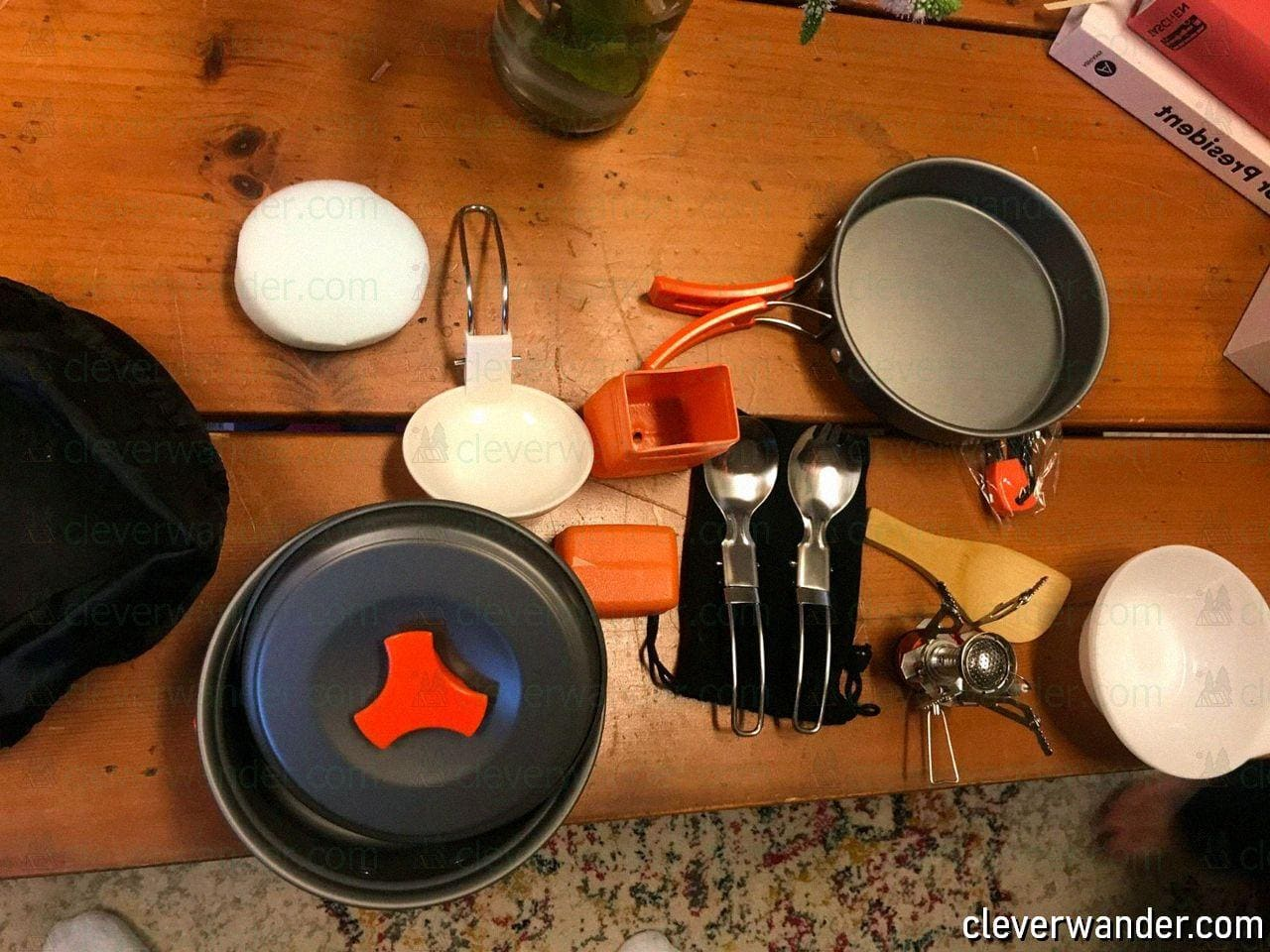 AnimeMiracle Pcs Camping Cookware Set - image review - 2