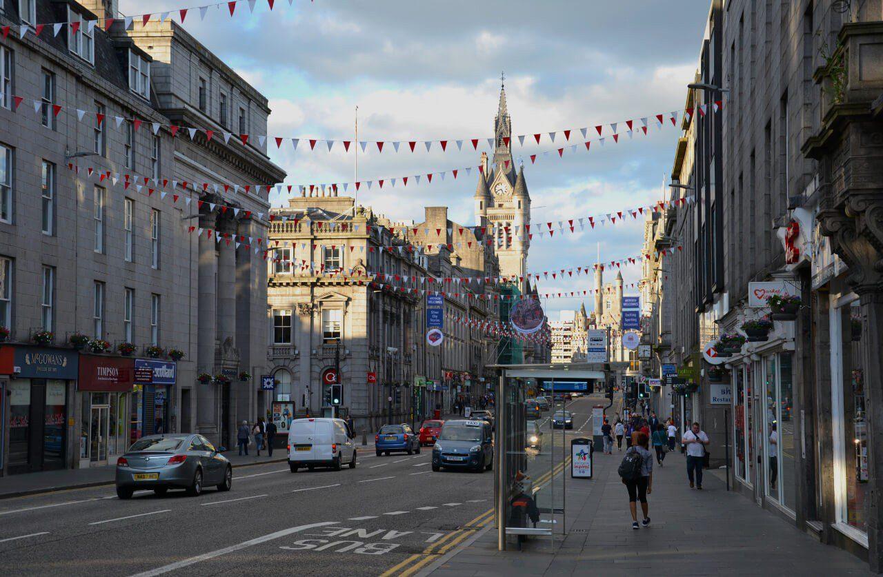 Ulica w Aberdeen