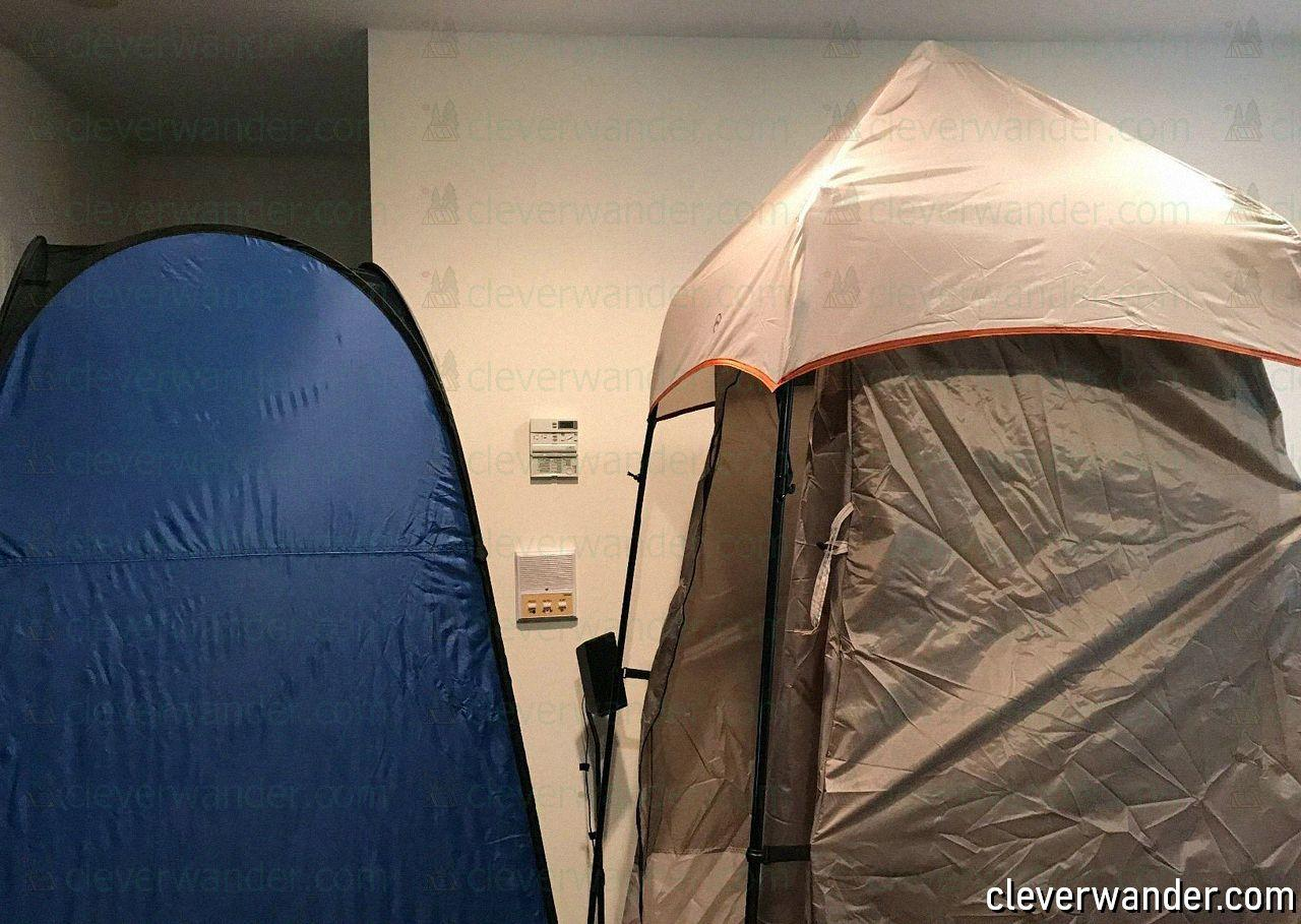 WolfWise Pop Up Privacy Shower Tent - image review 4