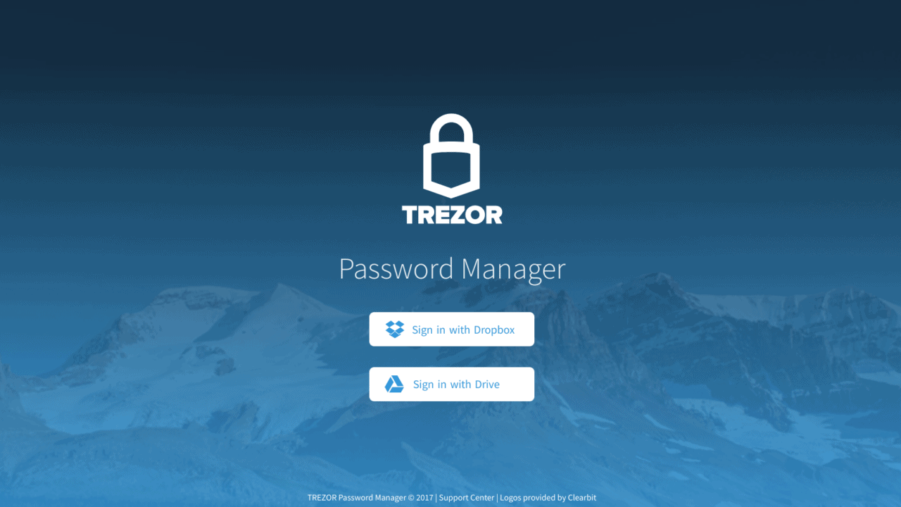 Trezor password manager