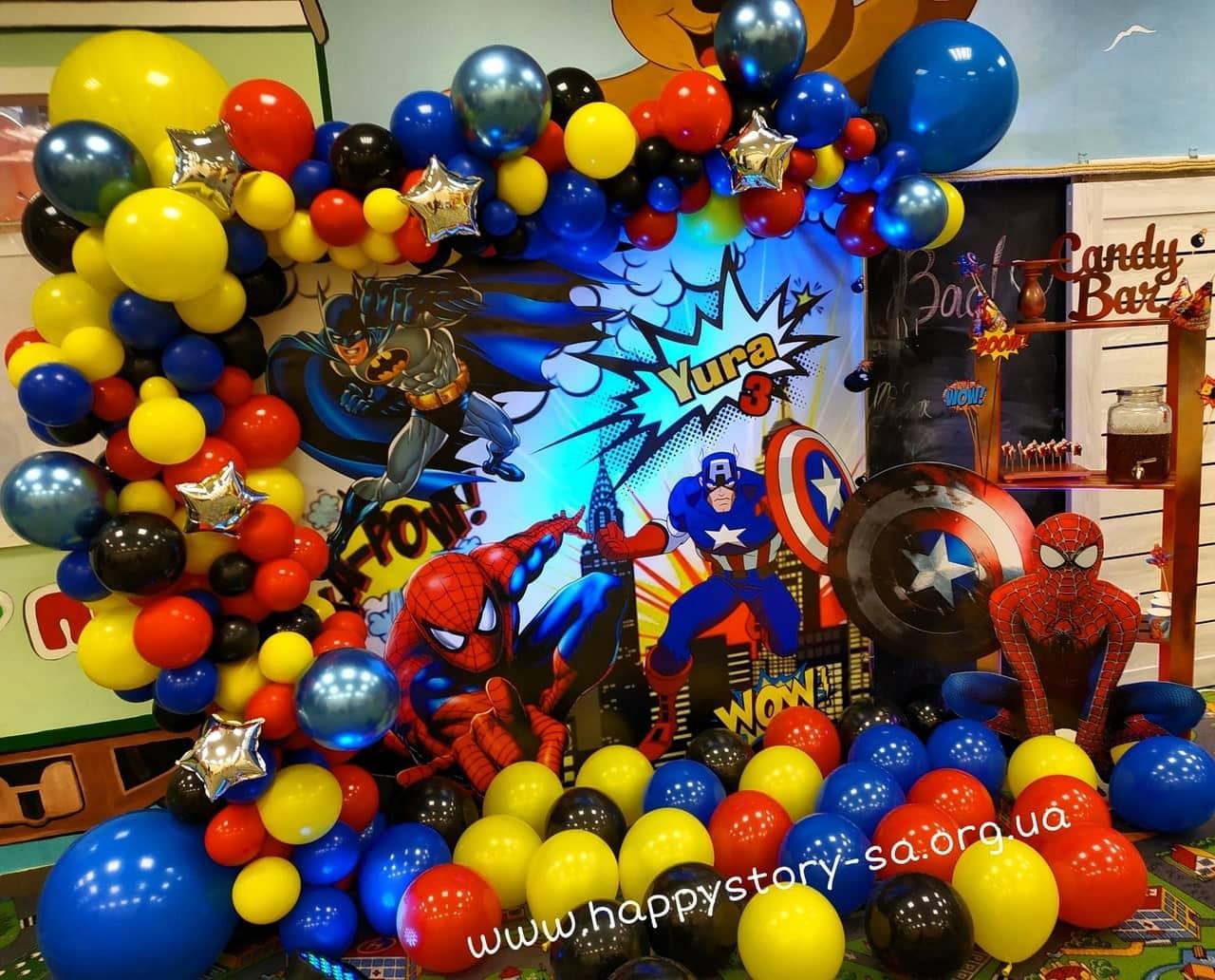 """Фотозона из воздушных шаров + кенди бар в детской комнате """"Happy Мишка"""" г. Донецк"""