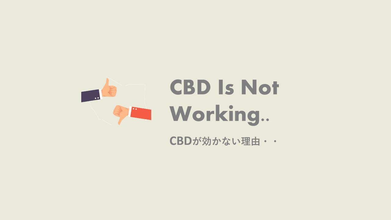 CBD効かない