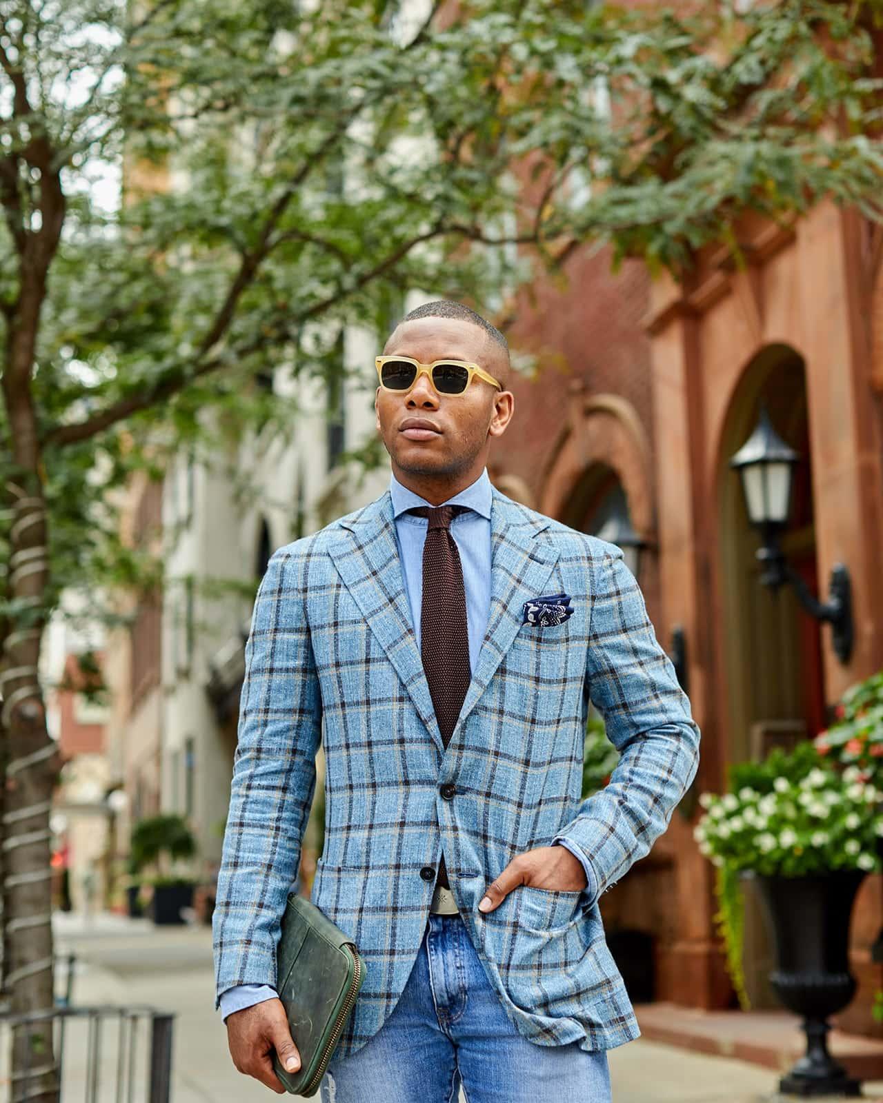 Sabir M. Peele of Men's Style Pro in Spier & Mackay Blazer