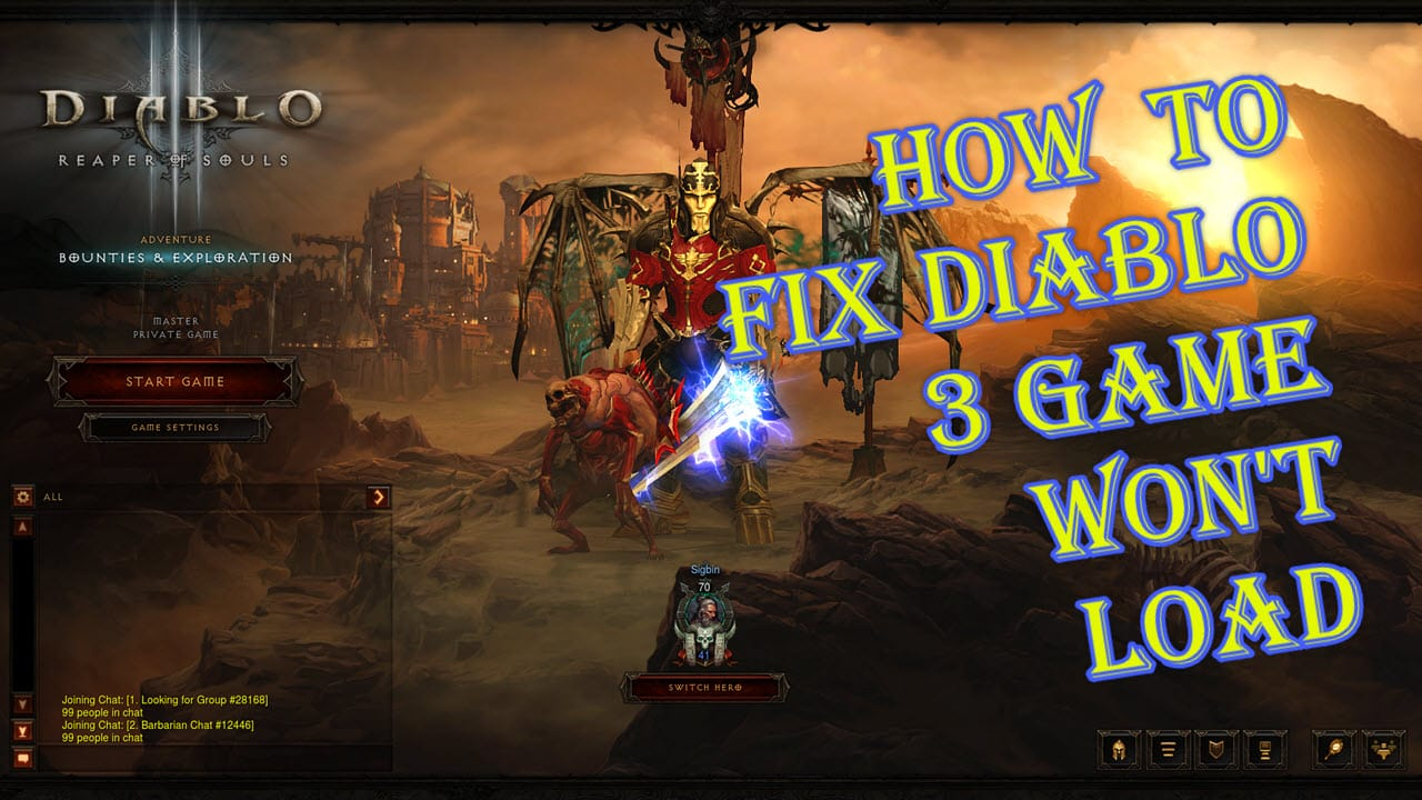 How To Fix Diablo 3 Game Won't Load