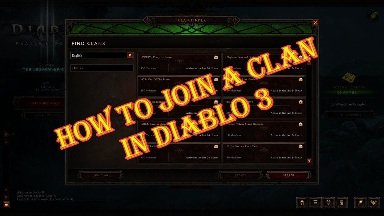 How To Join A Clan In Diablo 3