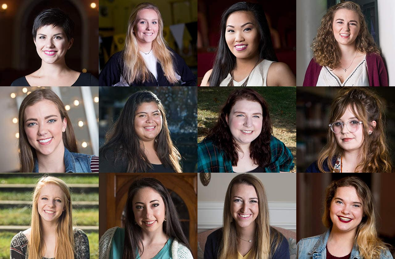 Grid of Brenau Scholars portraits.